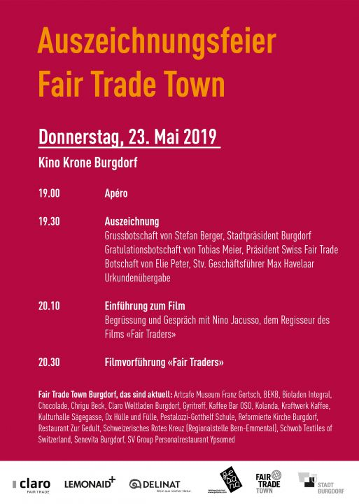 Bild Flyer Fair Trade Town Details