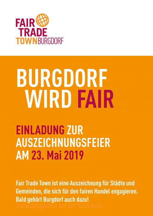 Bild Flyer Fair Trade Town